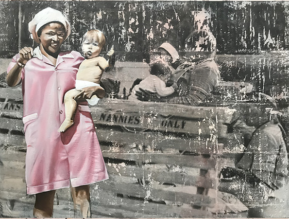 NANNIES ONLY / 160 X 120CM